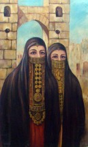 لوحة الفتيات العربيات -1