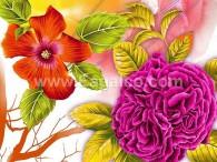 زهور ملونة-3378